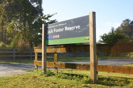 Jack Foster Reserve Sign