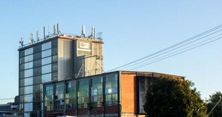 Matangi Dairy Factory side view by railway