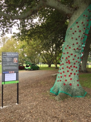 Anzac Poppy Tree Jack Foster Reserve April 2017