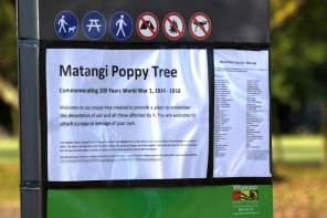 Matangi Poppy Tree Sign/About