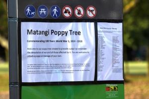Matangi Poppy Tree Sign/About