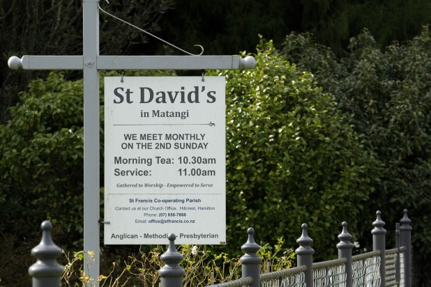 St David's Church Matangi, Service Sign
