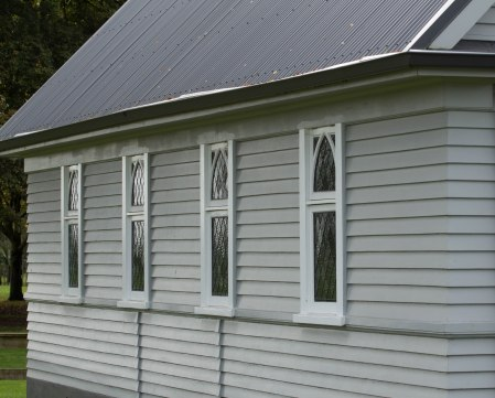 Windows detail St David's Church Matangi
