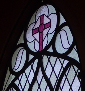 St David's interior - Detail on window