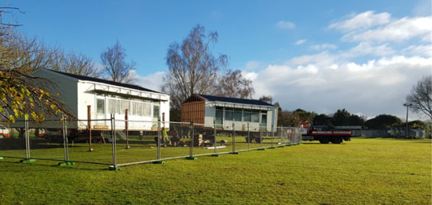 Temporary Classrooms arrive at the school