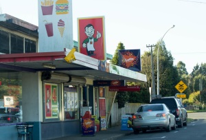 Four Square and Chippie, local shops