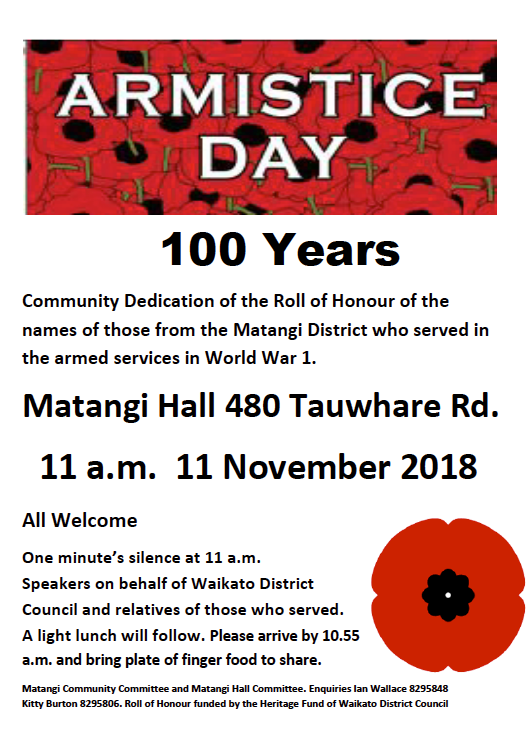 Armistace Day 100 years 11 Nov 2018